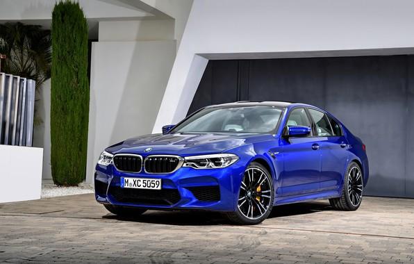 Picture house, BMW, Parking, sedan, BMW M5, 2017, M5, F90