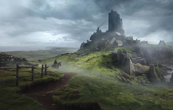 Picture Board game, Solomon Kane, Guillem H. Pongiluppi, game for Mythic Games, England Landscapes