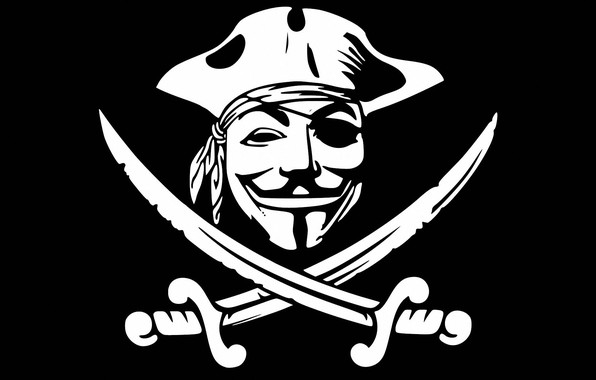 Picture logo, pirates, swords, anonymous