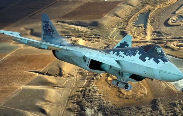 Picture unobtrusive, Videoconferencing Russia, the fifth generation fighter, Su-57, OKB imeni P. O. Sukhoi, promising Russian …