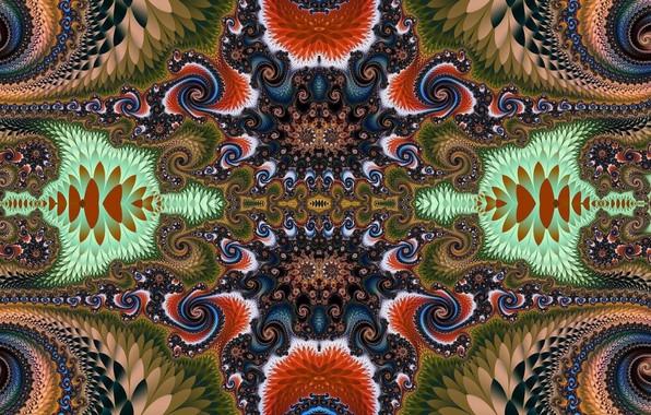 Picture pattern, bright, Khokhloma