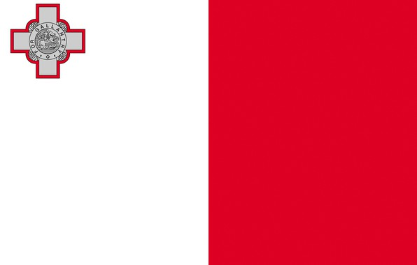 Picture white, red, flag, red, white, coat of arms, flag, Malta, Malta, coat of arms, Painted, …