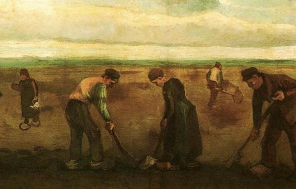 Picture Vincent van Gogh, Potatoes, Farmers Planting