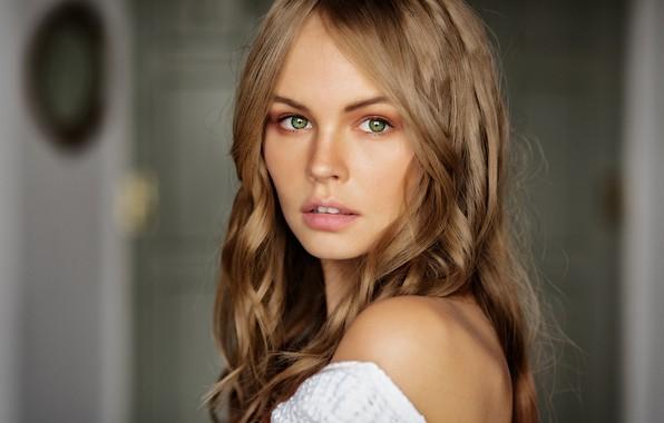 Picture eyes, look, girl, blonde, Anastasia Shcheglova, Mark Prinz