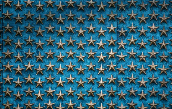 Picture stars, Washington, USA, The world war II memorial, Wall of freedom