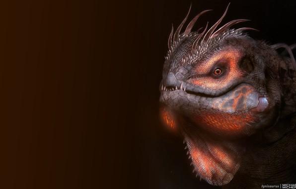 Picture Dragon, Art, Concept Art, Reptile, Ignisaurus, by MICHAEL MICHERA, MICHAEL MICHERA