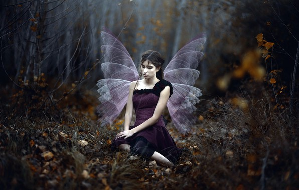 Picture girl, wings, Mar Kalina