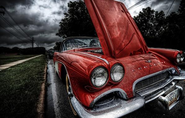 Picture Car, Clouds, Rain, Mood