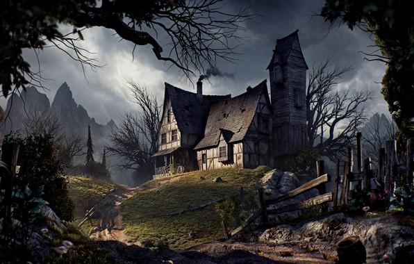 Picture house, Halloween, Halloween