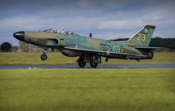 Picture Fighter, Landing, WFP, Attack, Chassis, You CAN, Swedish air force, Saab 32 Lansen