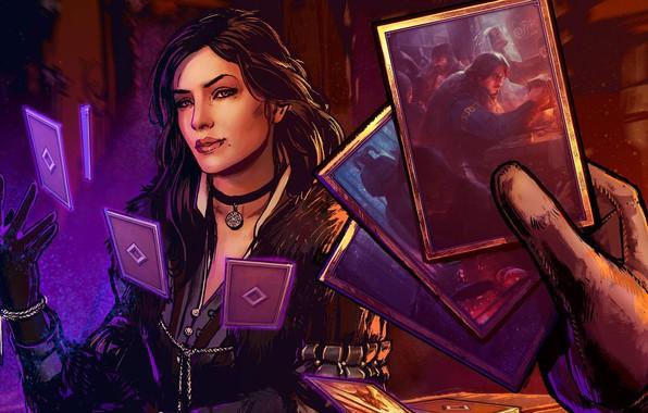 Picture card, girl, magic, girl, magic, the enchantress, witcher, Ian, CDProjekt RED, enchantment, Yennefer, Yennifer, Yennefer …