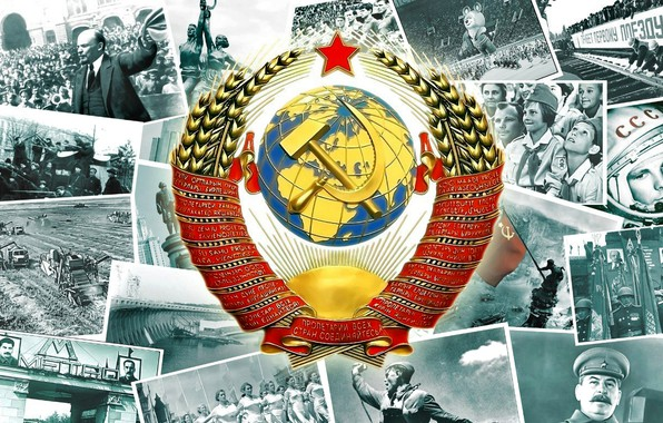 Picture Soldiers, USSR, Lenin, Coat of arms, Gagarin, The Victory Banner