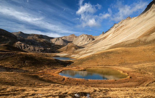 Picture lake, landscape, puddle, space
