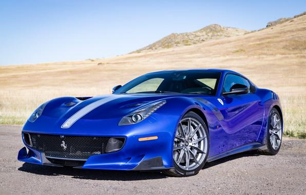 Picture blue, sports car, Gran Turismo, Ferrari F12 TDF