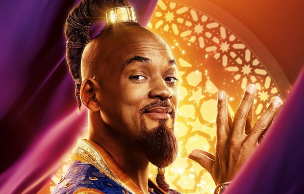 Picture look, Aladdin, Will Smith, Will Smith, Aladdin, Genie