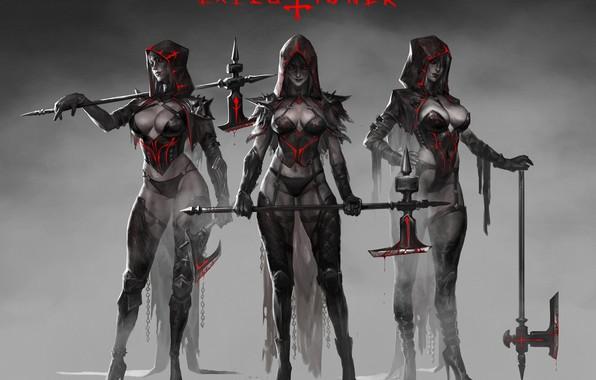 Picture Girls, Dark, Blood, Axe, Hood, Art, Art, Girls, Hood, Artist, Blood, Axe, Artist, The executioner, …