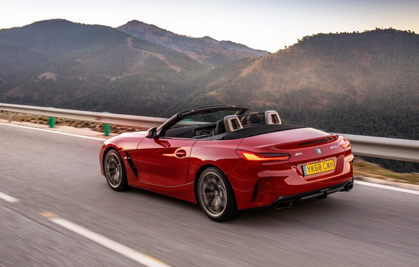 Picture mountains, red, BMW, Roadster, BMW Z4, M40i, Z4, 2019, UK version, G29