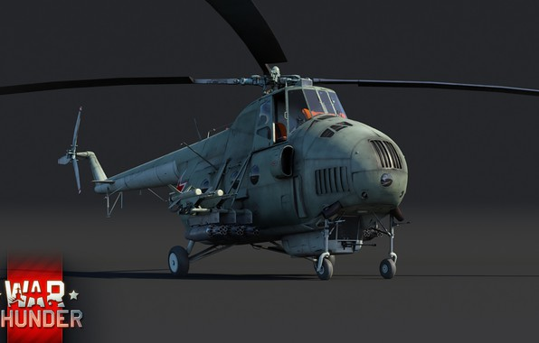 Picture art, helicopter, shock, THE SOVIET AIR FORCE, Mil, ATGM, war thunder, Mi-4