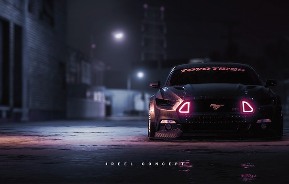 Picture Mustang, Ford, Auto, The game, Machine, NFS, Ford Mustang, Rendering, Concept Art, Game Art, Transport …