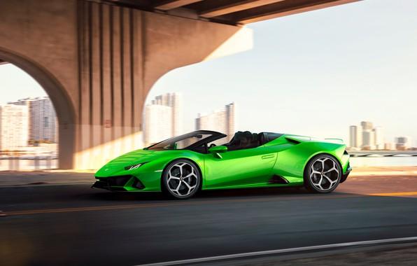 Picture machine, movement, Lamborghini, optics, sports car, Spyder, Evo, Huracan