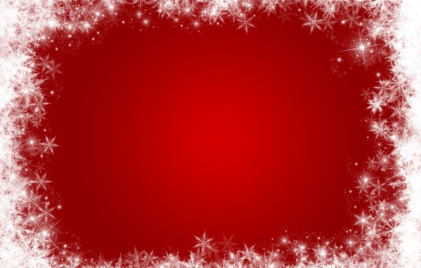 Picture winter, snow, snowflakes, red, background, red, Christmas, winter, background, snow, snowflakes, frame