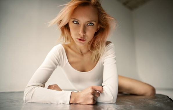 Picture look, girl, face, pose, blonde, Maxim Gontarev