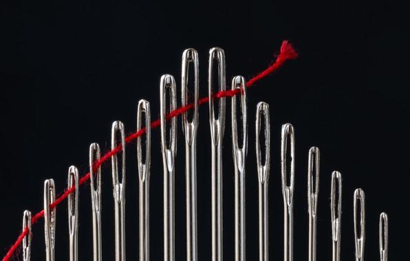 Picture macro, needles, thread