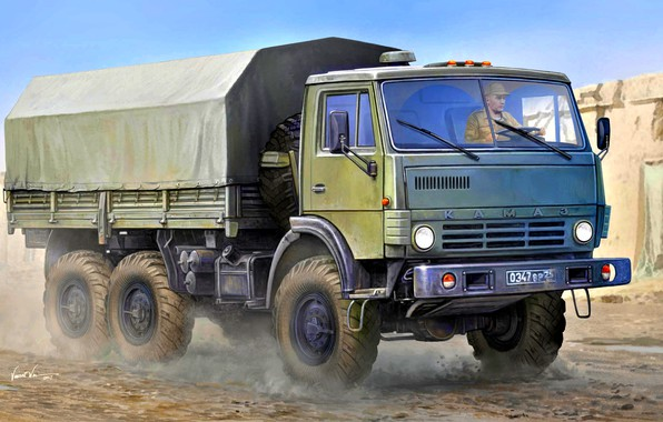 Picture Russia, Rover, army, four-wheel drive, terrain, KamAZ-4310, the basic model