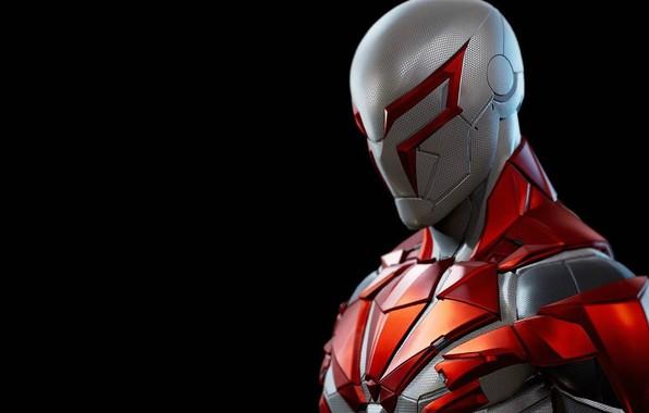 Picture background, hero, costume, armor, spider-man 2099, spider-man 2099