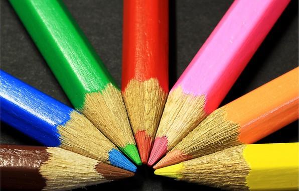 Picture macro, photo, background, pencils