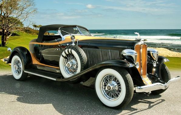 Picture machine, car, retro cars, Auburn V12 160A