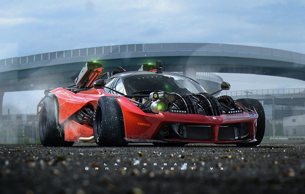 Picture machine, the game, race, Khyzyl Saleem, Ghost Games, Live To Offend - La Ferrari