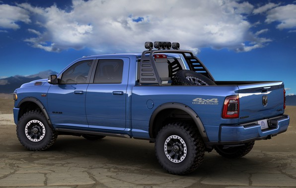 Picture Dodge, Blue, Ram, Off road