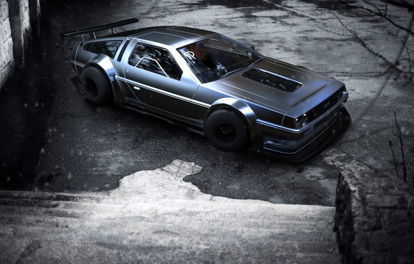 Picture Auto, Machine, DeLorean DMC-12, DeLorean, Rendering, Concept Art, DMC 12, Transport & Vehicles, Rostislav Prokop, …