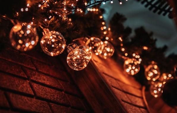 Picture Christmas, New year, garland, Christmas toys, Christmas lights
