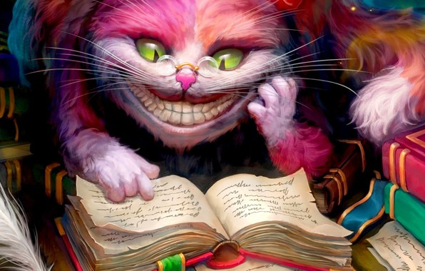 Picture monster, mouth, Alice Madness Return, Cheshire Cat, Cheshire Cat, Alice madness vozvrashaetsja, evil smile