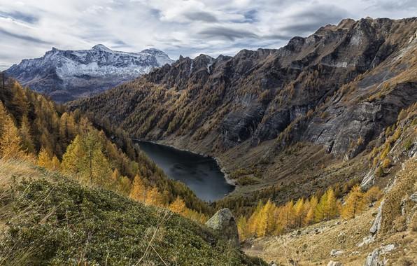 Picture autumn, mountains, lake, canyon