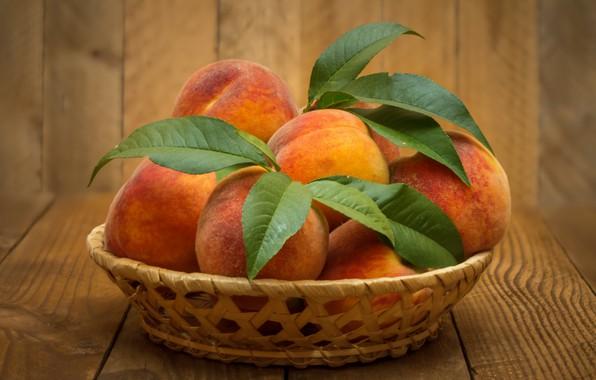 Picture fruit, peaches, ripe
