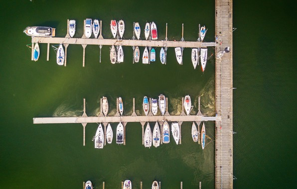 Picture Water, Sea, Pier, Yachts, Boats, The view from the top, Marina, Boats, Stephan Litter, by …