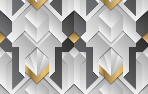 Picture white, abstraction, grey, golden, white, gold, geometry, elements, stripes, element, decor, geometric