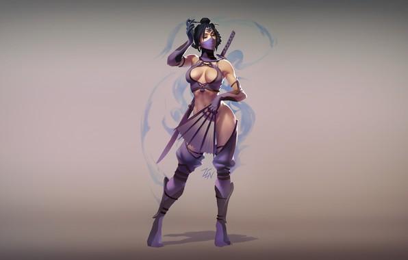 Picture Minimalism, Art, Mortal Kombat, Kitana, Illustration, by Zenda Naar, MK World - Kitana, Zenda To