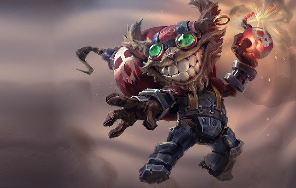 Picture the game, fantasy, art, champion, League of legends, Mike Azevedo, Ziggs (League of legends)
