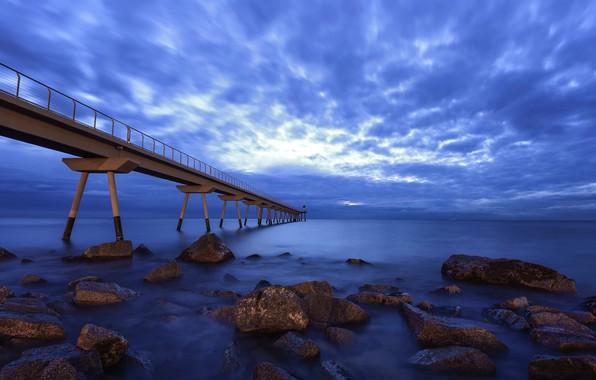 Picture the sky, bridge, coast