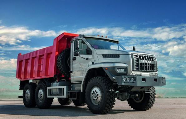 Picture truck, body, Ural, 6x6, dump truck, triaxial, bonnet, URAL
