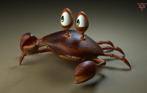 Picture background, crab, 3D graphics