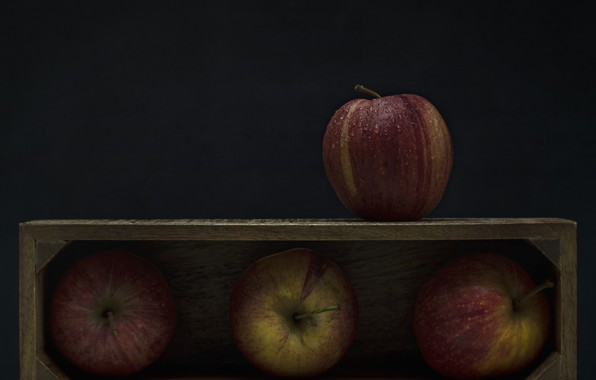 Picture apples, fruit, box