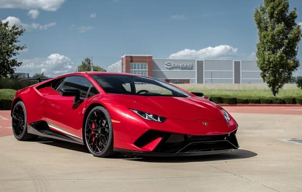 Picture Lamborghini, Red, Performante, Huracan