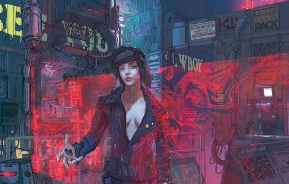 Picture Girl, Figure, Art, Mechanisms, Klaus, Cyber, Cyberpunk, Klaus Wittmann, Wittmann, Pills