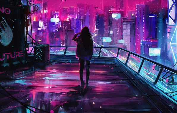 Picture girl, art, art, Aenami, by Aenami, Alena Aenam The, 2019, by Alena Aenami, Endgame Streetwear