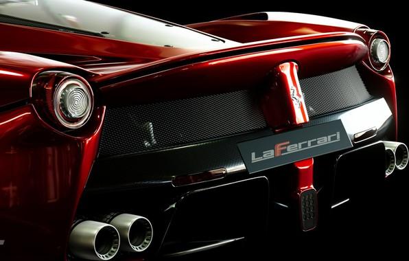 Picture Macro, Red, Auto, Black, Ferrari, Ferrari, LaFerrari, Gran Turismo Sport